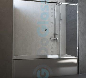 Шторка на ванну раздвижная модель 5091