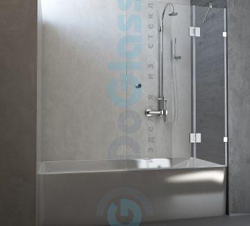 Шторка на ванну распашная модель 6004